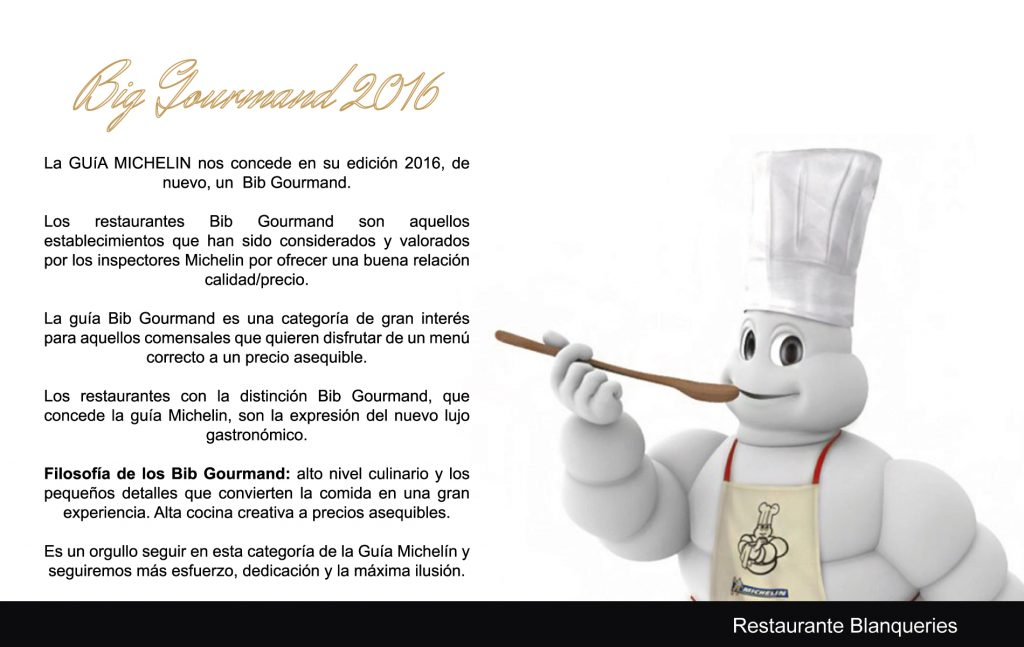 Big Gourmand 2016 - Blanqueries